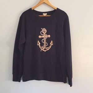 JCrew Sweatshirt Navy